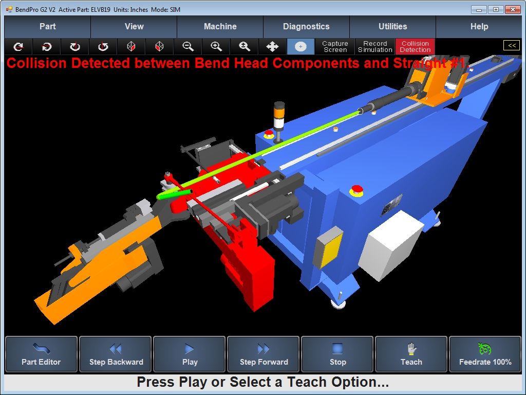 BendPro SIM Software 3D Simulation Eaton Leonard