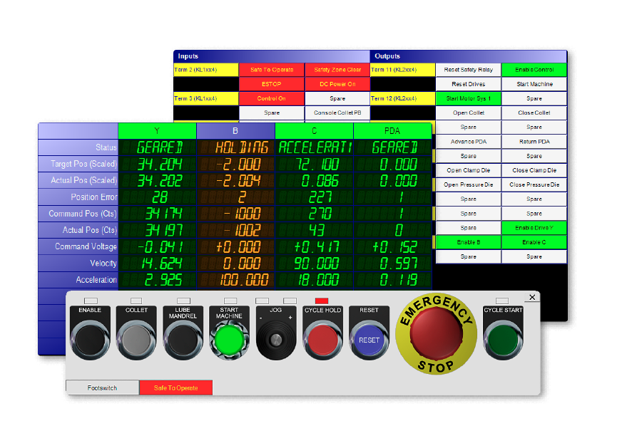 BendPro Control Software Diagnostics